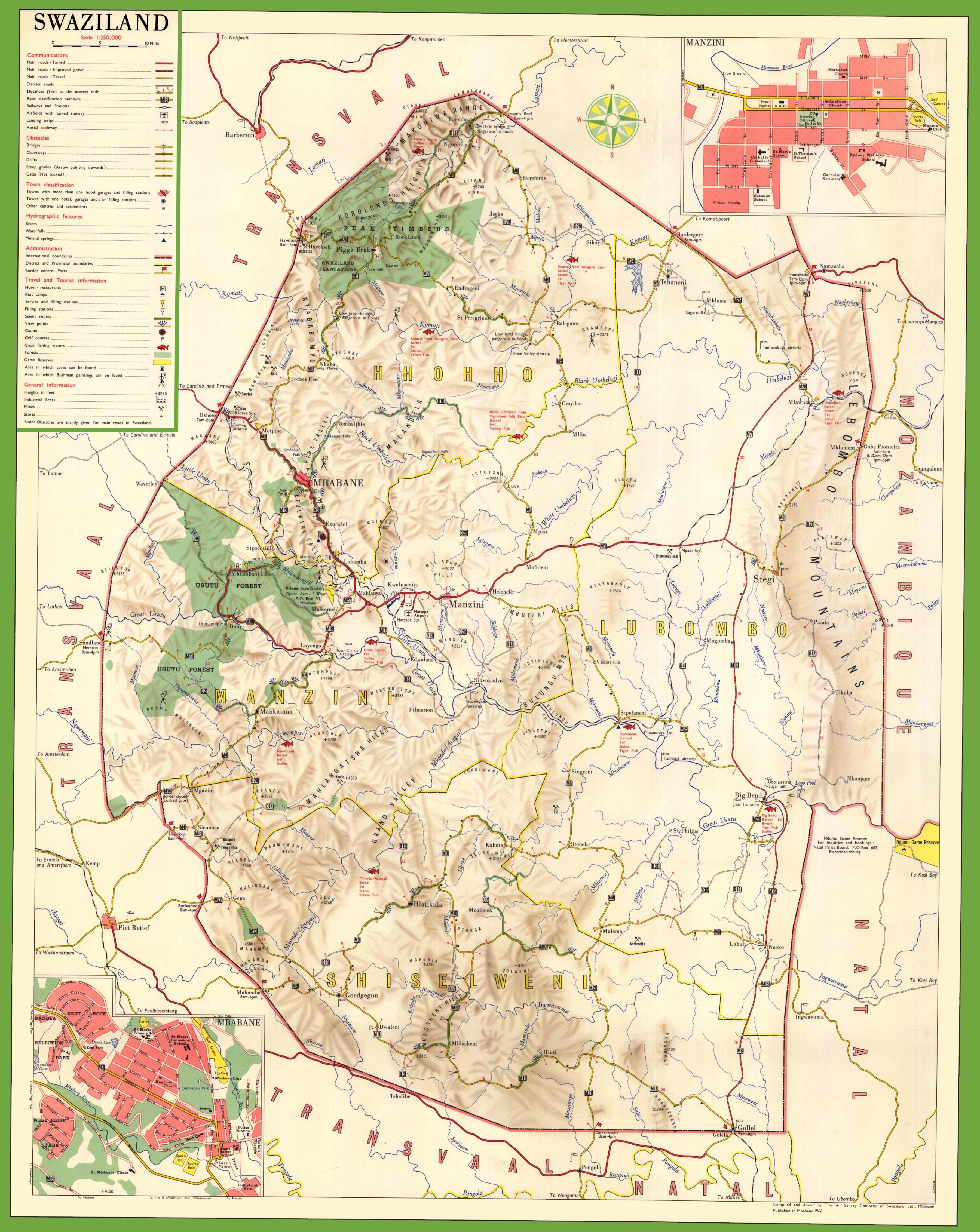 detaljert kart Swaziland detaljert kart   Kart over Swaziland detaljert (Sør  detaljert kart